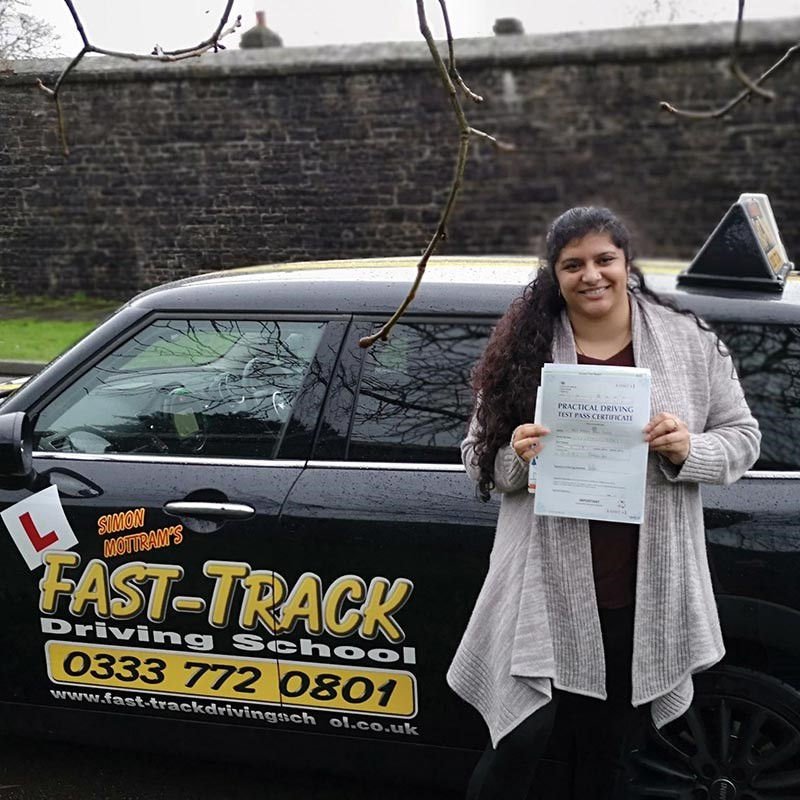 Andrea Chandy Review of Fast Track Driving School