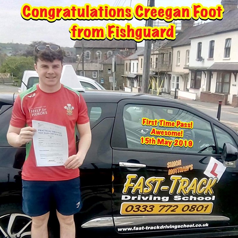 Creegan Foot from Fishguard Review of Fast Track Driving School