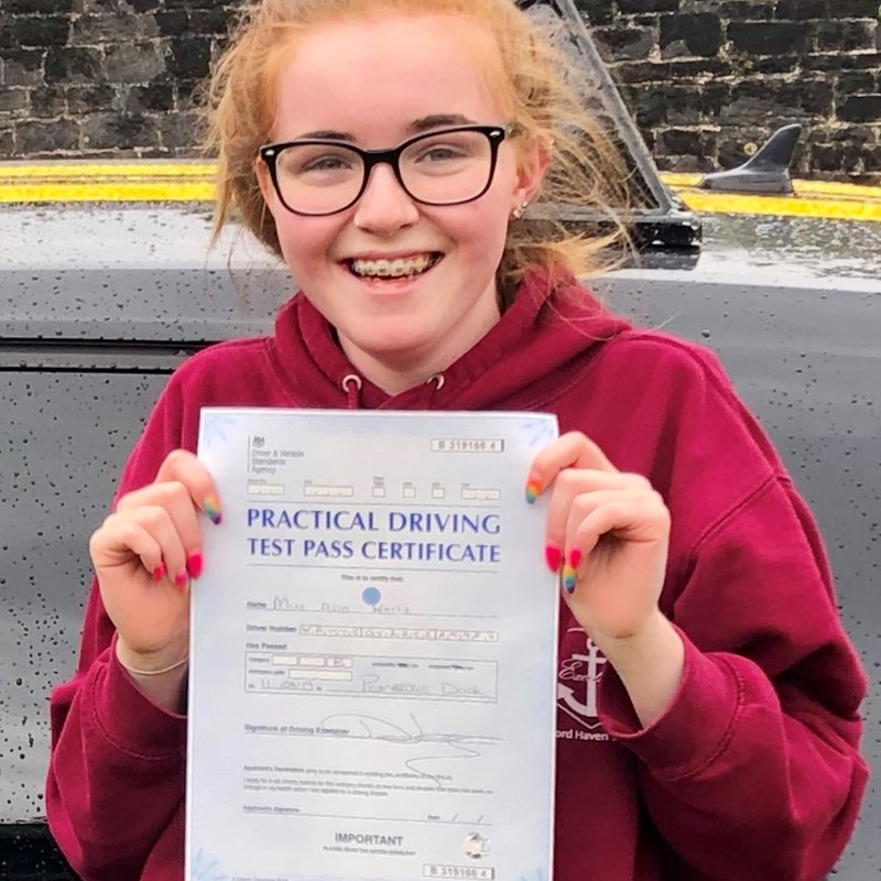 Asia Watts from Milford Haven Review of Fast Track Driving School