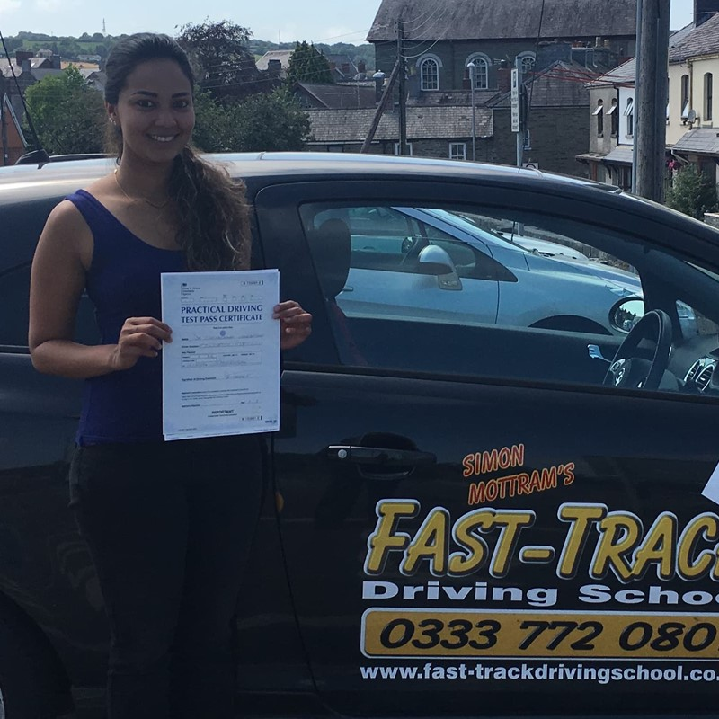 Thasha Uma from Haverfordwest Review of Fast Track Driving School