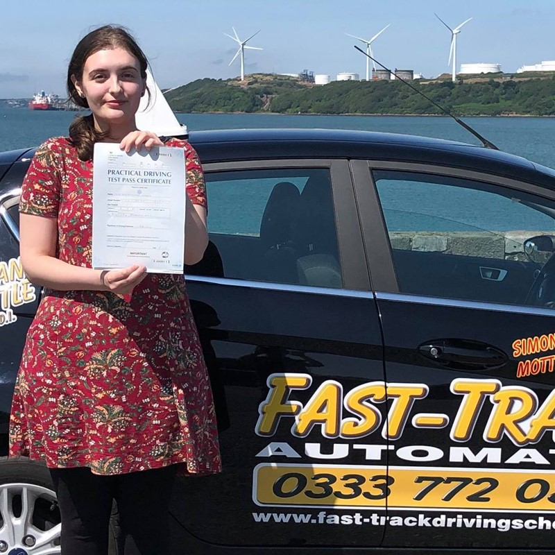 Sian Hughes from Pembroke-dock Review of Fast Track Driving School