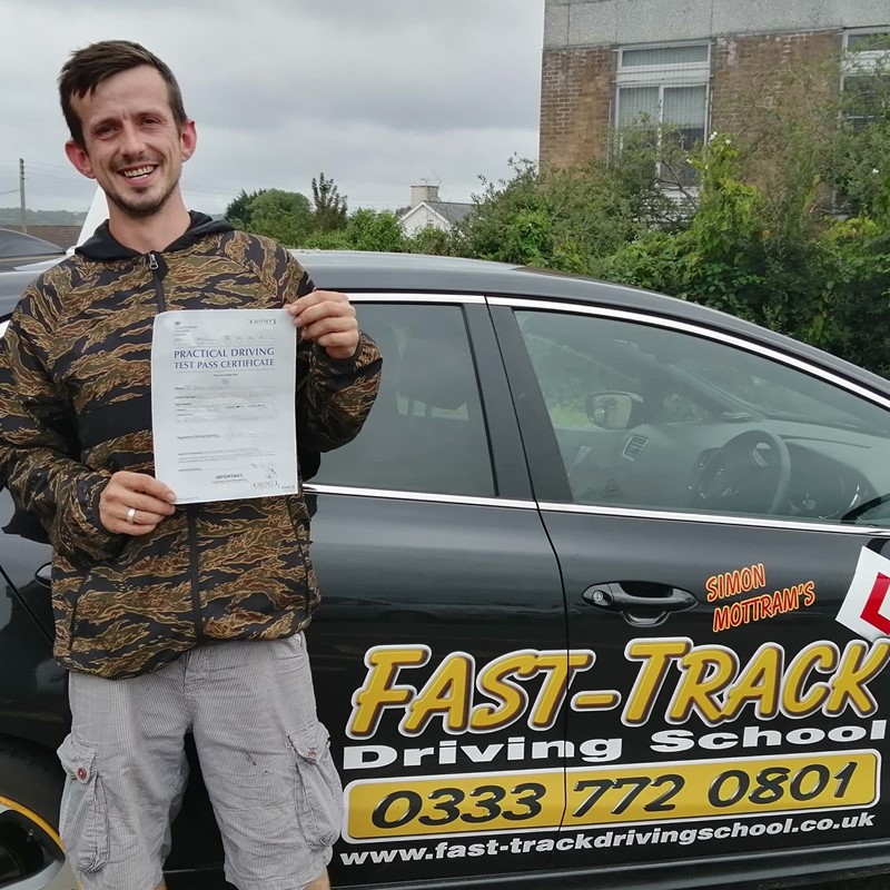 Jake McCourt from Newcastle Emlyn Review of Fast Track Driving School